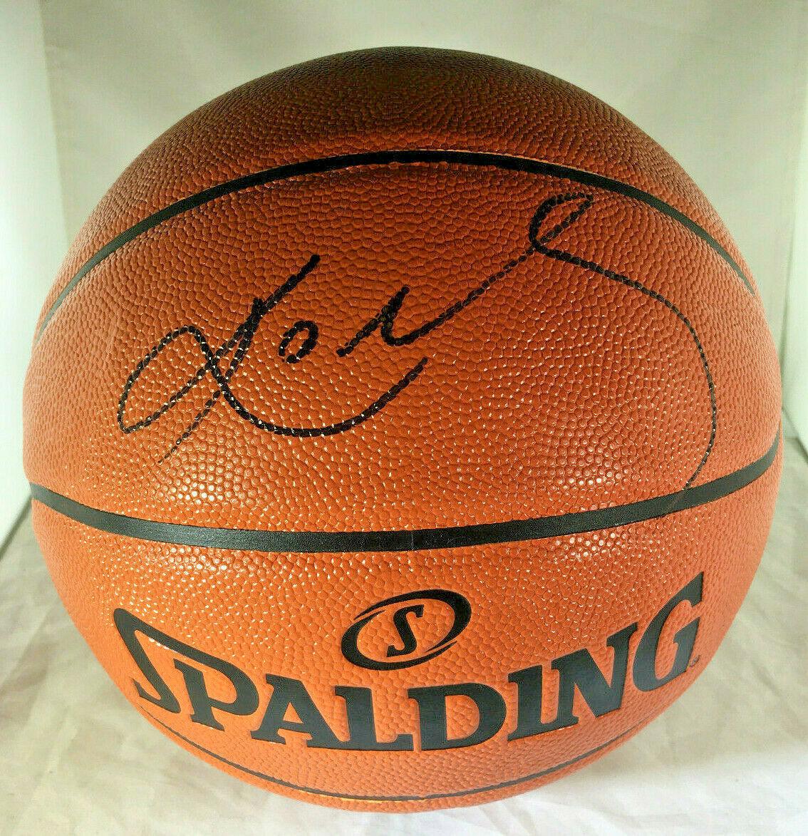 KOBE BRYANT / NBA HALL OF FAME / AUTOGRAPHED FULL SIZE NBA LOGO BASKETBALL / COA