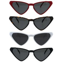 Womens Squared Triangle Cat Eye Thin Plastic Goth Retro Sunglasses - $9.95
