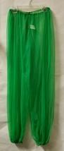 Harem Genie Pants One Size Green Adult Chiffon Harem Genie Pants  - $14.84