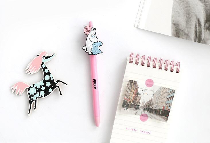Moomin Gel Pen 4EA Lot 0.4mm Jelly Pen Study Planner Diary Scrapbook Photo Decor