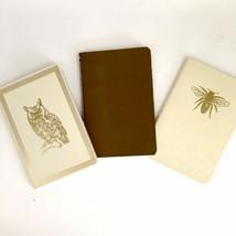 Eccolo Mini Journals Lined Set Of 3 Blank Diary Owl Bee Kraft Purse Trav... - $9.90