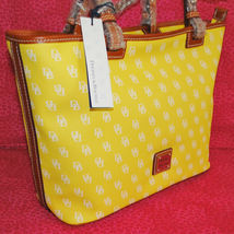 Dooney & Bourke Gretta Yellow Leisure Shopper Tote image 2