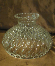 """10"""" Clear Glass Diamond Quilted Quilt Oil Kerosene Lamp Shade fits Aladd... - $75.38"""