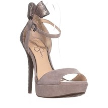 Jessica Simpson Baani Sparkle Bow Heel Dress Platform Pumps, Warm Stone,... - $44.15