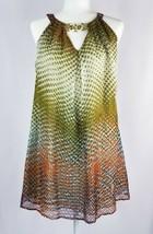 Blue Tassel Womens XS Sleeveless Dress Silk Shift Olive Green Boho NEW W... - $74.50