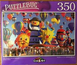 """Fun Shaped Hot Air Balloons Robin Macey Puzzle PuzzleBug 18.25"""" X 11"""" 35... - $7.96"""