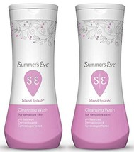 Summer's Eve Cleansing Wash Island Splash, 12 Ounce Pack Of 2