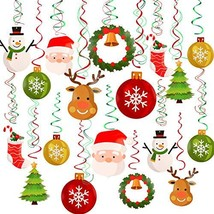 Konsait Christmas Hanging Swirl Decoration Kit(32pcs), Merry Christmas S... - $16.35