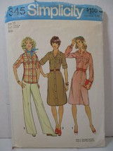 Simplicity Pattern 7345 Miss Size 10 Shirt-Dress / Shirt Vintage 1976 Co... - $12.86