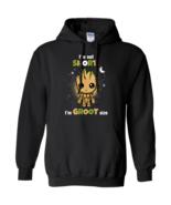 Baby Groot I'm Not Short I'm Groot Size G185 Gildan Pullover Hoodie 8 oz. - $29.50+
