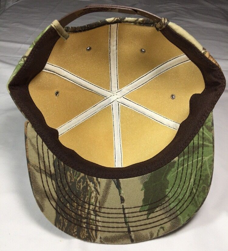 Kelly Tires Patch Snapback Camouflage Trucker Hat Camp Cap Realtree NWT NEW