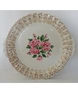 Sebring China Bouquet IKS518 Cake Plate Handled Vintage 1940s - $19.99
