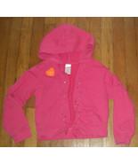 Gymboree coral pink rainbow gem terry cloth zip up hoodie jacket 8 girl - $7.92