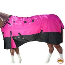 "84"" Hilason 1200D Ripstop Waterproof Turnout Winter Horse Blanket Pink U-2-84 - $84.99"