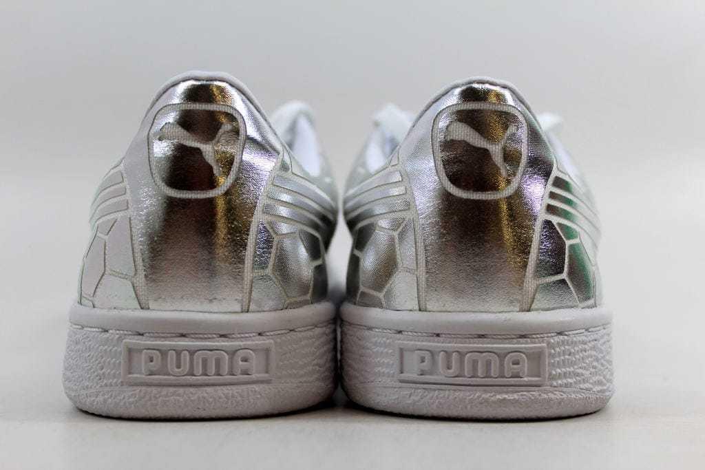 Puma Basket Classic Metallic Silver 362023 02 Women's SZ 7