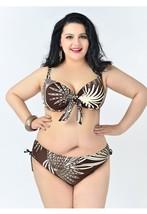 PLUS SIZE BIKINI 2pc Bathing suit women Swimming suits sexy swimwear XL 2X brown - $39.99