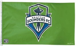 Seattle Sounders MLS Win Craft Sports Flag Green Blue (3 X 5) - $29.69