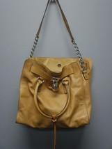 MICHAEL MICHAEL KORS Tan Leather Chain Detail S... - $134.68
