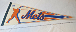 New York Mets Vintage Major League Baseball MLB Souvenir Pennant Logo - $26.72