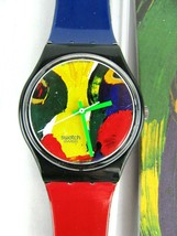 Swatch Gent Temps Zero by Lindstrom Gb166 - 1996 - New Battery-Needs new Band - $49.45