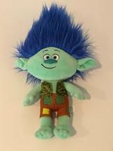 """Trolls Movie Branch Blue Hair Boy Plush Dreamworks Troll 17"""" Stuffed Animal  - $14.99"""
