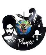 VINYL PLANET Wall Clock PRINCE  Gift Home Record Unique Decor upcycled 12'' - $27.26