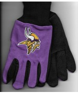 Minnesota Vikings team Sport Utility Gloves purple black garden NFL Foot... - $17.77