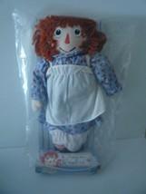 "Vintage 18"" Raggedy Ann Blue Dress Stuffed Doll 2000 Hasbro Mint in Box - $17.82"