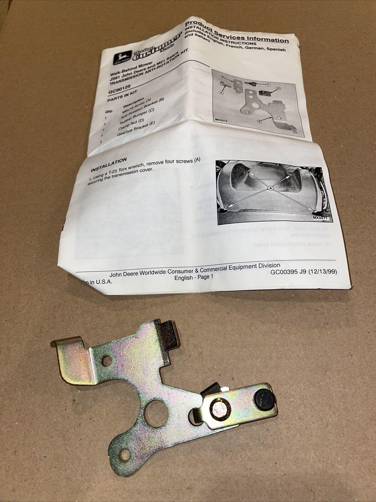 John Deere GC90125 Anti-Rotation Kit JS61 Sabre M21 OEM NOS - $24.75