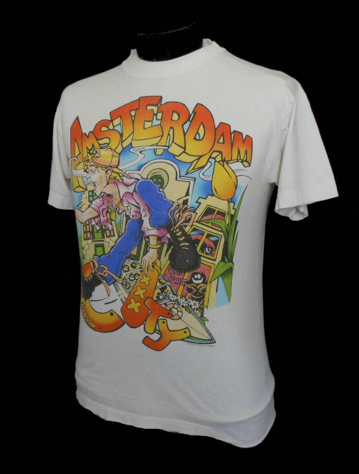 b75641b41 Vintage 70s 80s Amsterdam Souvenir T-Shirt Head Crewneck Tee, Size Small  Medium