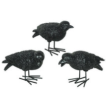 Darice Halloween Tabletop Black Crow: Resin, 6 x 3.75 inches, 3 assorted... - $7.99
