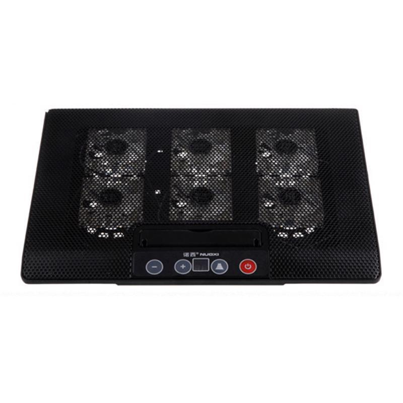 Laptop Cooling Pad Base LED 2 Stand Macbook Air Cooled Notebook Six Cooling Fan