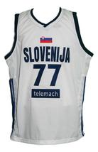 Luka Doncic #77 Slovenia Basketball Jersey Sewn White Any Size image 1
