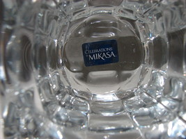 Mikasa Celebrations Crystal  Square Votive Holder in a  Beautiful Block Geometr image 5