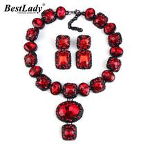 Lady Women European Exclusive Crystal Za Vintage Gem Necklaces& Pendants... - $21.20