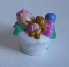 Fisher Price Little People 2001 Baby Girl Child Infant Toy Home Family M... - $8.79