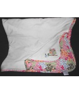 2009 Gymboree Daddys Night Owl Baby Blanket Cream Pink Green Flowers - $24.63