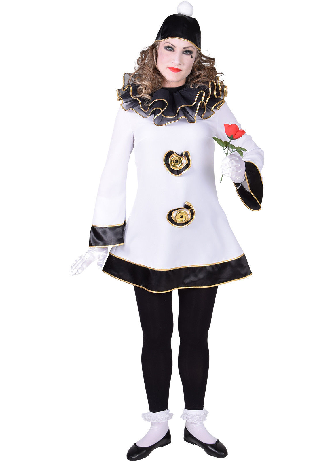 Ladies Pierrot Clown - XS -XXL