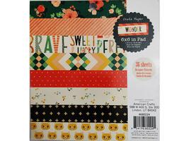 """Crate Paper Wonder 6x6"""" Paper Pad #680224"""