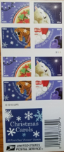 Christmas Carols First Class (USPS) FOREVER STAMPS 20 - $13.95