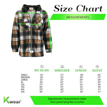 Men's Heavyweight Flannel Zip Up Fleece Lined Plaid Sherpa Hoodie Jacket image 2