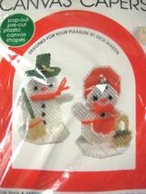 Christmas Snow Man Canvas Capers Needlepoint Kit Leisure Art Martin Xmas... - $6.92