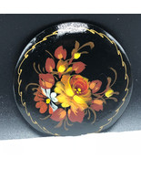 ANTIQUE FLORAL PINBACK signed by artist dugay digay flowers art deco bro... - $19.75