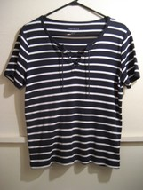 CHARTER CLUB womens crossstring shirt size medium - $15.88