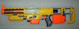 Rare Nerf Longshot CS-6 Yellow Working Gun W 12 Darts Clip And Recon Cs-6 - $21.77