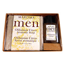 Maroma Men Olibanum Citrus Soap and Perfume Gift Set - $22.00