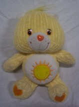 "Care Bears RIBBED YELLOW FUNSHINE BEAR 8"" Plush Stuffed Animal 2003 - $15.35"