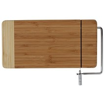 Home-X - Bamboo Cheese Cutting Board with Stainless Steel Wire Cheese Sl... - $19.68