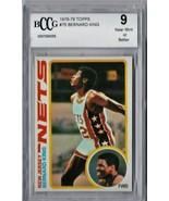 1978 - 1979 Topps Bernard King Rookie #75 BCCG Beckett 9 P555 - $53.14