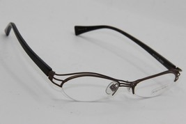 New Alain Mikli Al 1110 0002 Brown Eyeglasses Authentic Rx AL1110 52-18 W/CASE - $101.40